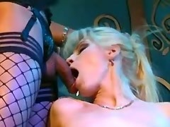 Wild gang bang with kinky dressed pretty trannies