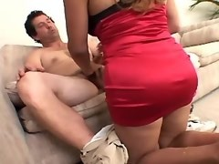 Guy serves shemale with huge ass