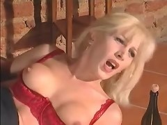 Blond tranny crazy rides black dick