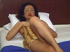 Sweet asian trans slut tempting guy