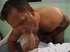 Blonde shemale nurse enjoy hot orgy