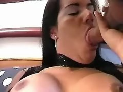 TS in black stockings likes to fuck