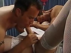 Blonde shemale nurse spoil hospital