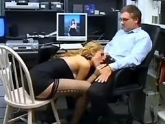 Shemale secretary throats fat cock
